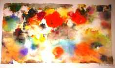Abstract Flowers Water Color I
