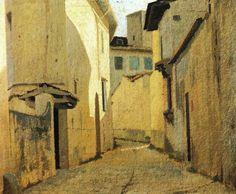 Giuseppe Abbati (It, 1836-1868) - Strada di paese - 1861-1862 - Galleria d'Arte Moderna, Palazzo Pitti, Firenze, Italia
