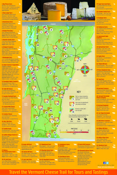 Vermont Cheese Trail: The Vermont Cheese Council introduces you to more than 40 cheesemakers who produce over 150 varieties of small-batch, sheep, cow and goat specialty cheeses and have won literally scores of awards. #VisitTheUSA