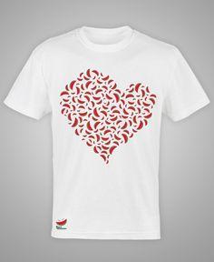 Camiseta Mosaico Coração