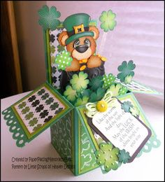 PAPER PIECING MEMORIES BY BABS: St. Patrick's Day Card