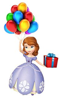 A Princesa Sofia 2 - Cia dos Gifs Princess Sofia Birthday, Sofia The First Birthday Party, Mickey Mouse Parties, Mickey Mouse Birthday, Tangled Party, Tangled Birthday, Tinkerbell Party, Princesa Sophia, Holly Hobbie