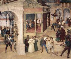 Legend of St. Barbara (detail) - Lorenzo Lotto.  1523-24.  Fresco.  Oratorio Suardi, Trescore, Italy.