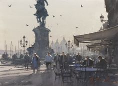 Joseph Zbukvic is a leading master of watercolour medium of his time. His impressive achievements and enormous success is due to his ability to transform any subject into visual poetic language. Watercolor Artists, Watercolor Landscape, Artist Painting, Landscape Art, Watercolor Paintings, Joseph Zbukvic, Original Art, Original Paintings, Sun Art