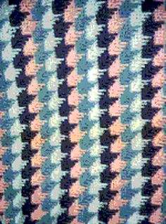 Wonderful Apache Tears Crochet Afghan Pattern.  Also known as   houndstooth, arrowheads...I've studied it and it looks pretty easy !