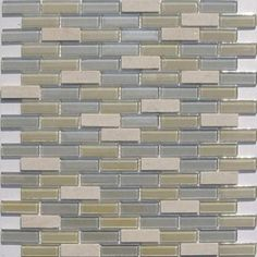 Misty Sea Glass - Accent glass tile for bathroom.