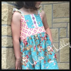 A personal favorite from my Etsy shop https://www.etsy.com/listing/277895784/size-12-month-size-910-girls-pink-and