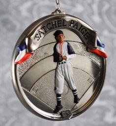Satchel Paige 1996 Hallmark Baseball Heros Keepsake Christmas Tree Ornament $14.00