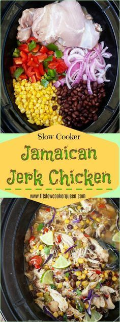 Your favorite Caribbean flavors are combined in the slow cooker for this easy and healthy Jamaican jerk chicken one-pot meal. Your favorite Caribbean flavors are combined in the slow cooker for this easy and healthy Jamaican jerk chicken one-pot meal. Crock Pot Slow Cooker, Crock Pot Cooking, Crock Pots, Cooking Tips, Cooking Pasta, Cooking Pork, Cooking Turkey, Slow Cooker Freezer Meals, Cooking Quotes