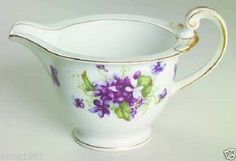 Fine China Of Japan Boutonniere Purple Violets Gold Trim Creamer Sold