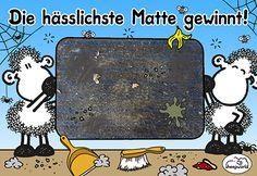 Zeigt Eure hässliche Fußmatte und gewinnt 1 von 3 sheepworld Matten von Matmaker! https://www.facebook.com/sheepworld.de/photos/a.415628180538.208891.392781925538/10154505817275539/?type=3&theater
