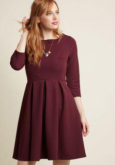 f0a0e7e453 Inspired Interpretation A-Line Dress in Raisin