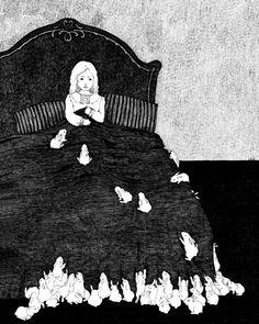 Girl with many Rabbits by StupidAnimalShop on etsy