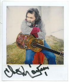 Charles Manson and his guitar