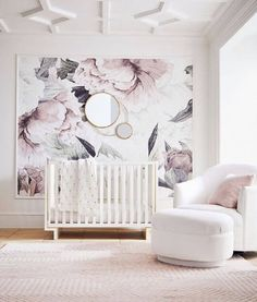 Pottery Barn Kids New Modern Baby Collection 2018 - - Think cool nursery furniture doesn't exist? Think again. Pottery Barn Kids just launched the chicest baby decor collection—and we low key want everything from it, too. Pottery Barn Kids, Pottery Barn Nursery, Pottery Barn Wall Art, Baby Bedroom, Baby Room Decor, Room Baby, Baby Rooms, Childs Bedroom, Bedroom Girls