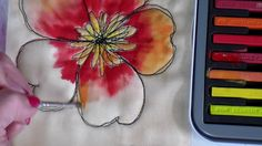 DIY Painting Fabric with Inktense,  Free-Motion Tutorial