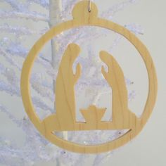 aries keychain scroll saw pattern | Nativity Ornament