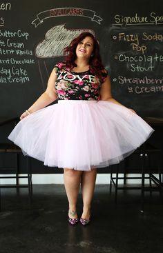 Clarisa blush pink puffy tulle skirt