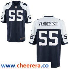 f59f6c1166b Men's Dallas Cowboys #55 Leighton Vander Esch Blue Thanksgiving Alternate  Stitched NFL Nike Game Jersey