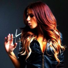 red to blonde ombre... would love to try and do this to my hair!