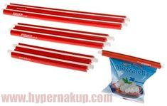 Uzávery na sáčky vrecká STATUS 120106 Fresh Stick, 6-dielna sada Fresh