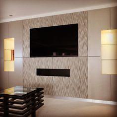 metallic sprayed AV wall