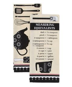 Measuring Equivalent Flour Sack Towel Set by Design Imports #zulily #zulilyfinds