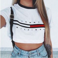 aa9bc5fe278 Short style print short sleeve letter top blouse from kslademade. Tommy  Hilfiger ...