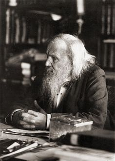 Dmitri Mendeleev, creator of the periodic table of the elements and cultivator of the wispy whisker.