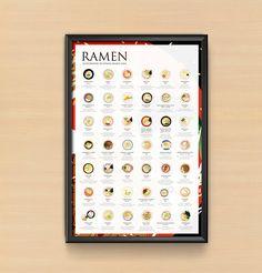 The Ramen Poster 2.0 introduce 42 regional ramen specialties