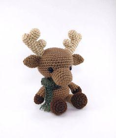 PATTERN: Crochet moose pattern amigurumi moose pattern