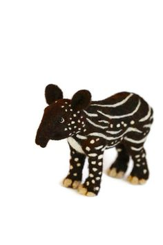Needle Felted Tapir Baby by BearCreekDesign
