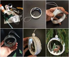 """Christmas tree toy """"On the forest edge"""". Christmas Clock, Christmas Tree Crafts, Christmas Mood, Vintage Christmas Ornaments, Christmas Baubles, Holiday Crafts, New Year's Crafts, Diy And Crafts, Ideas Decoracion Navidad"""