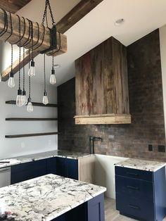 Large Brick Antique Copper Mosaic Tile for Kitchen Backsplash & Wall Fireplace Surrounds, Fireplace Design, Kitchen Flooring, Kitchen Backsplash, Kitchen Photos, Kitchen Ideas, Copper Kitchen, Tile Installation, Antique Copper