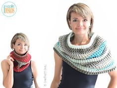 Cake Craze Chunky Cowl by Ira Rott. FREE (crochet pattern) for a LIMITED TIME! Expires: Sept 18, 2016