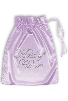 Rhinestone Maid of Honor Satin Bag Style RSBAG-MOH