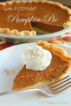 Low-FODMAP Pumpkin Pie  /  Delicious as it Looks