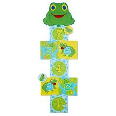 Melissa & Doug® Sunny Patch Skippy Frog Hopscotch Action Game - 8 Foam Pads : Target