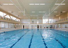 Interior of swimming pool complex by Slangen+Koenis Architecten