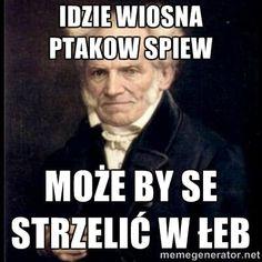 Dark Humour Memes, Sarcasm Humor, Stupid Funny Memes, Funny Quotes, Life Quotes, Meme Generation, Polish Memes, Weekend Humor, Depression Memes