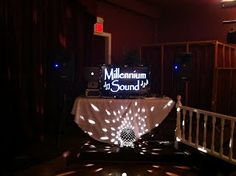 A small but elegant setup for a smaller venue.  Millennium Sound has multiple setups for all size events.