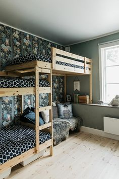 kids room ideas, kids shared room ideas, kids room ideas shared loft for small space Bunk Bed Designs, Girl Bedroom Designs, Girls Bedroom, Kid Bedrooms, Bunk Bed Rooms, Lego Bedroom, Childs Bedroom, Girl Rooms, Shared Boys Rooms