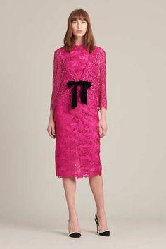 Monique Lhuillier Fuchsia Pink Dress