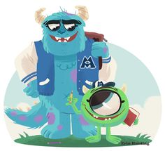 Monsters University - Shape of Sulley with different face for tattoo