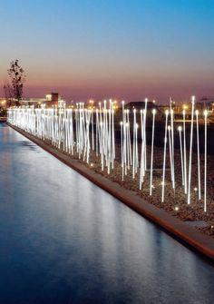 Candeeiro de pé / contemporâneo / outdoor / aço inoxidável - Typha por Susana Jelen-Eduardo Leira - iGuzzini