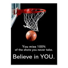 Great poster for the classroom to encourage students to believe in themselves and their abilities. Surround students with positive messages to support their developing confidence and determination to tackle challenges that may come their way. Motivational Basketball Quotes, Classroom Motivational Posters, Teacher Posters, Motivational Quotes For Students, Classroom Posters, Quote Posters, Classroom Teacher, Science Classroom, Nba Quotes
