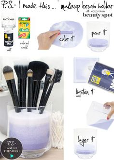Make your own ombre make up brush holder!