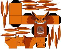 kurama yang half by hollowkingking Origami Naruto, Figurine Anime, Anime Crafts, Manga Covers, Paper Models, Anime Demon, Paper Toys, Otaku Anime, Anime Characters