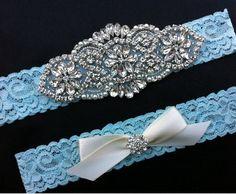 Rhinestone Wedding Garter / Pearl Rhinestone by SimplyKateGrace, $25.00
