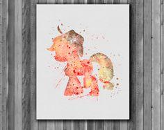 Pony Applejack My Little Pony poster Art by digitalaquamarine My Little Pony Poster, My Lil Pony, My Little Pony Party, Watercolor Disney, Watercolor Print, My Little Pony Bedroom, My Little Pony Applejack, Art Mignon, Little Poney